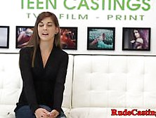 Brutal Casting For Amateur Tattooed Teen Video