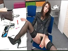 Japanese Office Girl Solo Masturbation