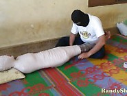 Indonesian Girl Wearing School Girl Costumes And In Mummificatio