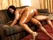 Fat Black Bitch Fucked On The Couch