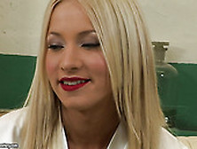 Hot Like Hell Blond Lady With Red Sexy Lips Kiara Lord Sucks Swe
