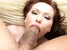 Sexy Redhead Cougar With A Superb Ass Katja Kassin Gags On A Lon