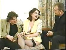 Vintage - Brunette Milf Dp Threesome