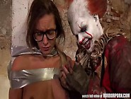 Hardcore Halloween Horror Fuck With Clown It And Stunning Brown