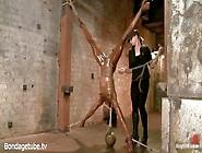 Oiled Up Black Slut Ana Foxxx Tied Up