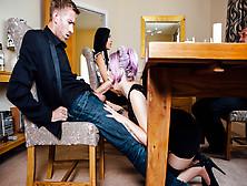Jasmine James & Skyler Mckay & Danny D & Keiran Lee In The Dinne