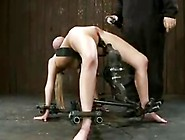 Big Bound Tits Fucked By A Machine