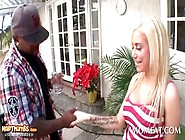 Sexy Blonde In Big Tits And Hot Ass Seduces Black Neighbor
