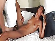 Beautiful Young Latina Having Hardcore Sex With Two Big-Dicked M
