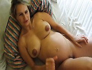 Pregnant Cummed And Wife Fucks On Stomach