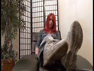 Catherine Foxx Strips Her Shoes And Socks