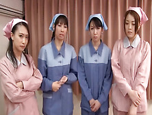 Sexy Asian Nurses Milking A Hard Cock Together