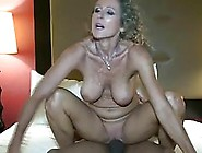 Blonde Lady With Curly Hair Was Sucking Her Client's Dick,