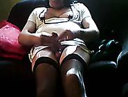 A Mature Amateur Crossdresser Masturbates On Webcam