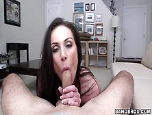 Kendra Lust Strips Sensually And Sucks His Dick