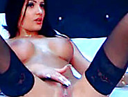 Big Tit Russian Babe With Perfect Pussy And Stockings Masturbate