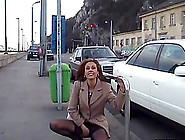 Being Naked And Sucking A Cock In Public Is Risky And Thrilling