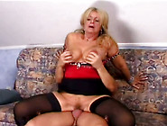 Lusty Old Bitch With Saggy Big Boobs Satisfies Horny Young Stud
