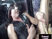 Toy Loving Femboi Strokes Her Big Cock
