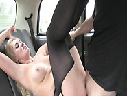 Busty Blonde Gets Pussy Fucked & Creampied In Ripped Pantyhose I