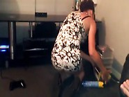 Slutty Maid Shows Her Ass And Panties