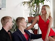 Bicurious Threesome With Victoria Puppy