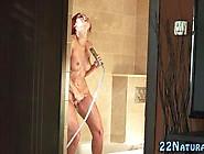 European Redhead Babe Masturbates In The Shower So Damn Fine