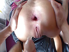 French Teen With A Gaping Asshole Gets Anal Fucked