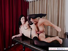 Slim And Smoking Hot Brunette Enjoys A Great Fucking