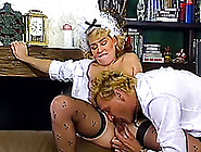 Nasty Mature European Blonde Ladies On The Couch Fucking A Man