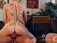 Short Haired Blonde Girl Is Getting Two Big Dicks At The Same Ti