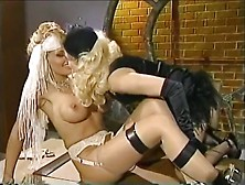 Stud Watches Gorgeous Blond Lesbo Show