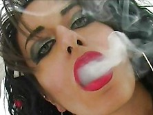 Long cigarette handjob video