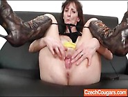 Masturbating Mature Chick In High Heeled Boots