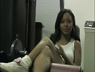 Ebony Goddess Sweaty Workout Foot Tease
