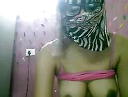 Masked Indian Babe Has Sex Chat On Webcam To Earn Some Extra Mon
