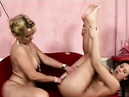 Lesbian Cripple Pleased By A Young Brunette Hottie