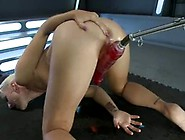 Dylan Ryan Has Her Pink Stretched By Immense Scarlet Fucking Toy