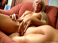 Naughty Blonde Chick Mastubates Till Cock Arrives