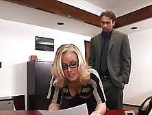 Raunchy Office Sex With Elegant Nicole Aniston In Glasses