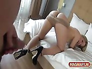Wide Ass Blonde Babe Can't Wait To Get Fucked
