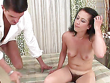 Lustful Brunette Milf Gets Her Hairy Twat Banged By A Masseur