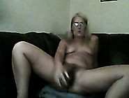 Webcam Vid With A Blonde Mom Destroying Her Snatch With A Dildo