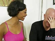 Ebony Slut Has Her Hairy Cunt Pummeled