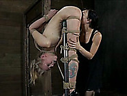 Flexible Blonde Bitch Is Tortured By Her Beautiful Mistress