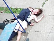 Drunk Couple Enjoying Sex In Public Park