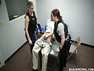 Two Police Women Arrange Dirty Threesome Sex During The Interrog