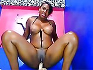 Bootyful Dominican Mifl Masturbating With Huge Sex Toy