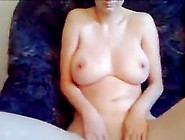 Brunette Wife Plays With Her Huge All-Natural Tits And Hairless