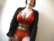 Big Boobed Curvy Babe Strips